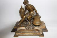 Important encrier Bronze XIXe siècle