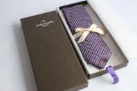 PATEK PHILIPPE cravate soie Ermenegildo Zegna mauve
