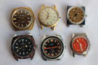 Lot de 6 montres anciennes CONTINENTAL LOV VILLARD LOTUS