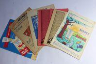 Anciens protège-cahiers d'écoliers publicitaires