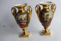 Paire de vases porcelaine Vieux Paris Empire