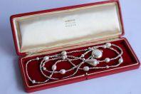 Collier long sautoir argent perles de culture