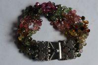 Bracelet argent et pierres véritables