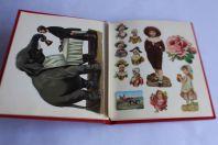 Album anciennes Images chromos gaufrés découpés