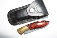 Couteau Léopard + étui cuir