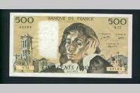 Billet 500 Francs PASCAL 3-2-1977.F.Q72 43184