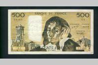 Billet 500 Francs PASCAL 4-1-1968.F.Z.5 28465