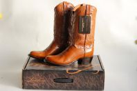 Bottes de Cowboy LUCCHESE Carson Antique Brown Lonestar Calf