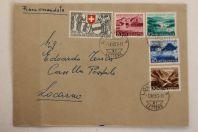 Enveloppe timbres Suisse Pro Patria 1952 Série