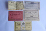 Anciens Billets de Loterie et Tombola Suisse