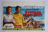 """Affiche film """"Sylviane de mes nuits"""" 1957"""