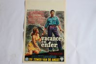 """Affiche film """"Vacances en enfer"""" 1961"""