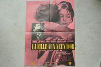 """Affiche film """"La fille aux yeux d'or"""" 1961"""