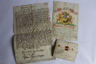 Anciens manuscrits Famille Klöpfer Armes blason Klepffer Allemagne