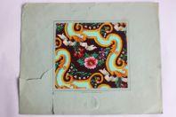 Carton tapisserie de Berlin SAJOU XIXe siècle