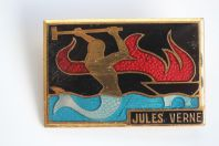 Insigne Indochine Jules Verne Navire atelier A. Augis