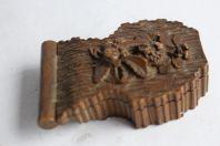 Boite Porte-montre de gousset bois sculpté Brienz Art populaire