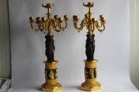 Paire de candélabres Empire