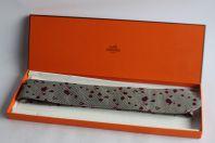 Cravate soie HERMES 489102T