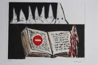 Gravure lithographiée Doroteo ARNÁIZ Fahrenheit 451