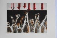 Gravure lithographiée Doroteo ARNÁIZ Excitation raciale