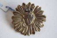 Broche argent Marguerite Art nouveau