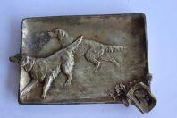 Cendrier bronze chiens de chasse 1900