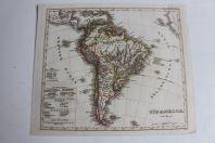 Carte géographique Amérique du Sud 1835