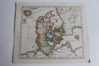 Carte géographique Danemark avec Holstein et Lauenburg 1835