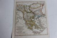 Carte géographique turkey griechenland 1835