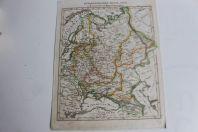 Carte géographique les îles britanniques 1836