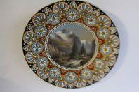 Assiette terre vernissée et peinte THOUNE THUNE Art populaire SUISSE XIXe siècle