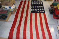 Tres grand drapeau des Etats Unis 1940 ( 48 états ) cousus