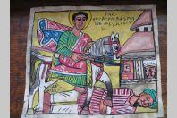 Ancienne peinture Éthiopienne sur parchemin