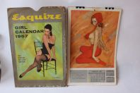 Calendrier Vintage Esquire 1957 , Pin Up, Mike Ludlow , Original Complet , U.S.A