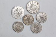 6 monnaies argent anciennes Arabe