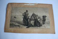 Léopold FLAMENG  gravure Orientaliste d'apres Carl Haag