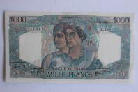Billet 1000 Francs Minerve et Hercule type 1945 France