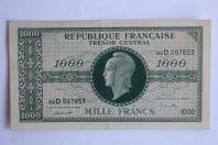 "Billet 1000 Francs Marianne type 1945 ""chiffres maigres"" France"