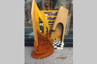 "Sculpture Puzzle "" Piano Sauvage "" Jean-Claude Bischoff 1990"