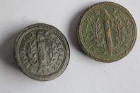 Deux boutons époque Révolution Française