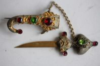 Bijoux broche argent couteau Ottoman