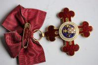 Décoration ordre Alphonse X Espagne argent et or