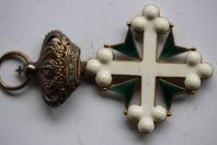 Décoration ORDRE des SAINTS MAURICE LAZARE Italie Chevalier croix or