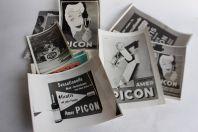 Huit photos originales campagne d'affichage pub PICON Suisse