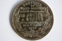 Médaille concours de musique Genève 1890