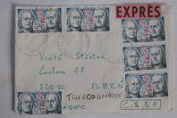Enveloppe France PJ 24h du mans exprès destination Tchécoslovaquie 1976