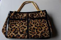 CHRISTIAN LOUBOUTIN sac a main imprimé léopard grand modèle