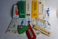 Collection de 18 thermomètres publicitaires