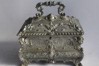 Coffret à bijoux étain 95% style Napoléon III
